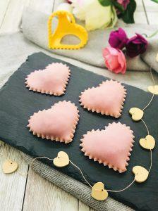 cuori rosa di pasta fresca san valentino